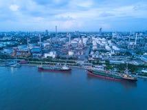 Bangkok Thailand 11 MAJ 2017: flyg- fors av den sh oljetanker Arkivbild