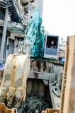 Bangkok, Thailand: Man excavator operator Stock Photo