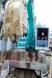 Bangkok, Thailand: Man excavator operator Royalty Free Stock Image