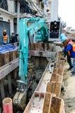 Bangkok, Thailand: Man excavator operator Stock Photography