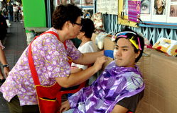 Bangkok, Thailand: Man Having Facial Cleansing Stock Photo