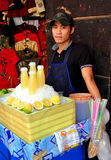 Bangkok, Thailand: Man Selling Fresh Lime Juice Stock Image