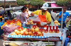 Bangkok, Thailand: Man Selling Pomegranate Juice Stock Image