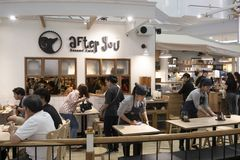 2108/9/02 Bangkok,Thailand : Many people enjoy drinking caffee a stock image