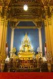 BANGKOK, THAILAND - MAR 9, 2016: Buddha at Wat Benchamabophit temple, Bangkok, Thailand. This temple is very popular in Thailand Royalty Free Stock Photo