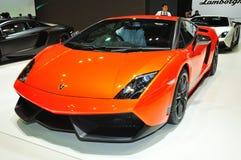 BANGKOK, THAILAND - MAR 30: Lamborghini Super Leggera car shown Royalty Free Stock Photography