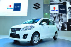 BANGKOK, THAILAND - MAR 30: The new Susuki Ertiga, SUV Car, show Stock Photography