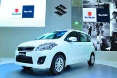 BANGKOK, THAILAND - MAR 30: The new Susuki Ertiga, SUV Car, show Stock Photography
