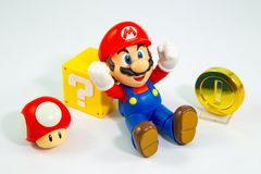 Free Bangkok, Thailand - March 27, 2016 : Super Mario Bros Figure Character From Super Mario Video Game Console Developed By Nintendo Royalty Free Stock Image - 123917226