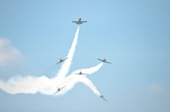 Breitling Jet Team Under The Royal Sky Royalty Free Stock Photo