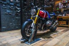 Bangkok, Thailand - March 31, 2019:  BMW R nine T Option 719 Naked Roaster bike Modified on display at The 40th Bangkok royalty free stock images