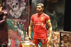 Close up shot of Gerrard in action figure. BANGKOK THAILAND - MARCH 3 ,2019 : Close up shot of Gerrard in action figure at Home in Bangkok, Thailand royalty free stock image