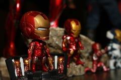 Close up shot of IRONMAN in AVENGERS Superhero figure royalty free stock image