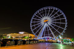 BANGKOK, THAILAND - MARCH 30,2016 : Ferris wheel at Asiatique th Stock Images