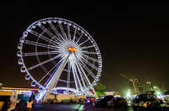 BANGKOK, THAILAND - MARCH 30,2016 : Ferris wheel at Asiatique th Stock Photos