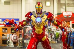 Bangkok, Thailand - March 23, 2016 : Iron Man Mark IV figure 1/6 royalty free stock images
