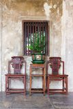 Bangkok, Thailand - 16 March 2018 : Luxuary vintage retro chairs Stock Photography