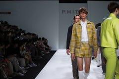 Fashion Show of New Collection in Bangkok International Fashion Week 2019, BIFW`19. Bangkok, Thailand - March 29, 2019 ; Male Model walks in Fashion Show of stock photography