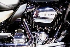 Bangkok,thailand-March 30, 2019:Motor bike detail-A Harley-Davidson motorcycle was showed in 40th Thailand International Motor stock images