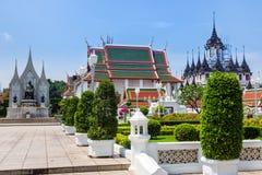 Bangkok, Thailand, March 2013 Rajanaddaram Temple Worawihan, Wat Rajanadda, is a temple of the early Rattanakosin Period. Ornate craftsmanship of Thai master royalty free stock photo