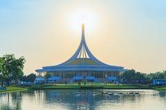 Ratchamangkhala Pavilion at public park name Suan Luang Rama IX on sunset or evening time Bangkok, Thailand. Bangkok, Thailand. - March 4, 2018 royalty free stock images