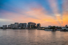 Bangkok, Thailand - March 8, 2015: Siriraj Hospital on the Chao. Phraya River, one of the oldest and the most famous hospital in Thailand, it was founded since Royalty Free Stock Photos
