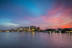 Bangkok, Thailand - March 8, 2015: Siriraj Hospital on the Chao. Phraya River, one of the oldest and the most famous hospital in Thailand, it was founded since Royalty Free Stock Image