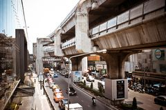 BANGKOK, THAILAND, MARCH 28, 2013 Sky train in Royalty Free Stock Images