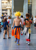 Super Saiyan in Bangkok. Stock Photos