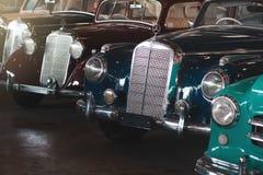 BANGKOK, THAILAND - MARCH 1, 2017: vintage retro mercedes cars parking in Jesada Car Museum Stock Photography