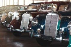 BANGKOK, THAILAND - MARCH 1, 2017: vintage retro mercedes cars parking in Jesada Car Museum Stock Photo