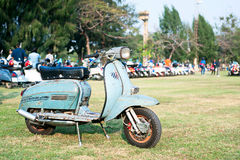 BANGKOK,THAILAND-MARCH 14,2015 68 Year Of Vespa La Festa Be A Part Of The Biggest Vespa Caravan In Asia 14.03.15 Royalty Free Stock Images