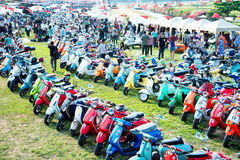 BANGKOK,THAILAND-MARCH 14,2015 68 Year Of Vespa La Festa Be A Part Of The Biggest Vespa Caravan In Asia 14.03.15 Royalty Free Stock Image