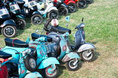 BANGKOK,THAILAND-MARCH 14,2015 68 Year Of Vespa La Festa Be A Part Of The Biggest Vespa Caravan In Asia 14.03.15 Stock Photo
