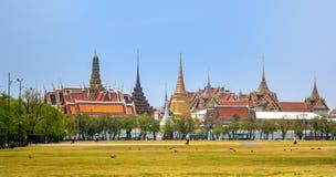 Bangkok Thailand, mars 2013 den storslagna slotten, Wat prakaew arkivfoto