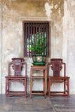 Bangkok Thailand - 16 mars 2018: Retro stolar för Luxuary tappning Arkivbild
