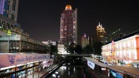 BANGKOK THAILAND - MARS 10, 2017: Stadssikt av den Pratunam marknaden royaltyfri fotografi