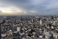 BANGKOK, THAILAND - MAY 14, 2017: Aerial view of Bangkok and Baiyoke Tower II, Bangkok, Thailand Royalty Free Stock Image