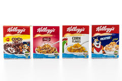 BANGKOK, THAILAND - MAY 27, 2016 :  Cereal box brand kelloggs is Royalty Free Stock Images