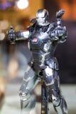 Bangkok, Thailand - May 6, 2017 : Character of War Machine or Lieutenant James Rhodes model in Avengers movie on display at royalty free stock photos