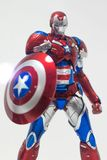 Bangkok, Thailand - May 6, 2017 : Character of War Machine or Lieutenant James Rhodes model in Avengers movie on display at royalty free stock images
