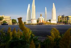 Bangkok,Thailand-May 6,2019:Cityscape of Democracy monument is a public monument in the centre of Bangkok,one of landmark. Anusawari PrachathipataiDemocracy stock photography