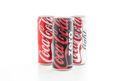 Bangkok, Thailand - May 22, 2017: Coca-Cola is a carbonated soft Royalty Free Stock Photography