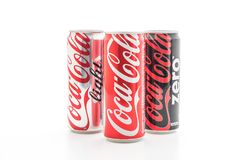 Bangkok, Thailand - May 22, 2017: Coca-Cola is a carbonated soft Royalty Free Stock Photo