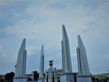 Bangkok,Thailand,May 27,2019:Democracy Monument.Monument Landmark.Bowon Niwet, Phra Nakhon.The democracy monument is in the middle stock image