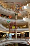 Plush elegant interior of Gaysorn Village shopping mall Bangkok Thailand. Bangkok, Thailand - May 3, 2017: The elegant lavish interior of several floors of the Royalty Free Stock Photo