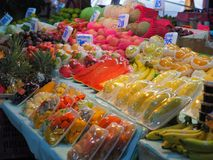 Bangkok,Thailand, on May 26, 2018, Ladprao fresh food market, pe. Bangkok,Thailand, on May 26, 2018, Ladprao fresh food market, many kind of fruit and price tag stock image