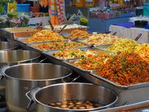 Bangkok,Thailand, on May 26, 2018, Ladprao fresh food market, pe. Ople buy and selling things at fresh market, showing finanial situation in thailand deal to the Royalty Free Stock Image