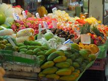 Bangkok,Thailand, on May 26, 2018, Ladprao fresh food market, pe. Ople buy and selling things at fresh market, showing finanial situation in thailand deal to the Royalty Free Stock Images