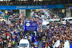 Bangkok, THAILAND - May 19, 2016: Leicester City arrive in Bangkok to heroes on Sukhumvit Road in May 19, 2016. Bangkok, Thailand. Bangkok, THAILAND - May 19 Stock Images